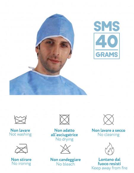 Copricapo monouso SMS da 40 gr
